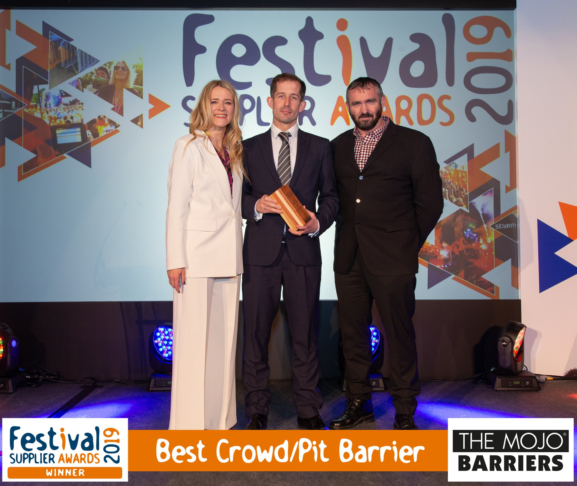 "MOJO BARRIERS awarded as ""Best Crowd/Pit Barrier"""